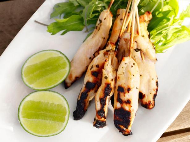 Фотография блюда - Кебаб из курицы в маринаде «Маргарита»