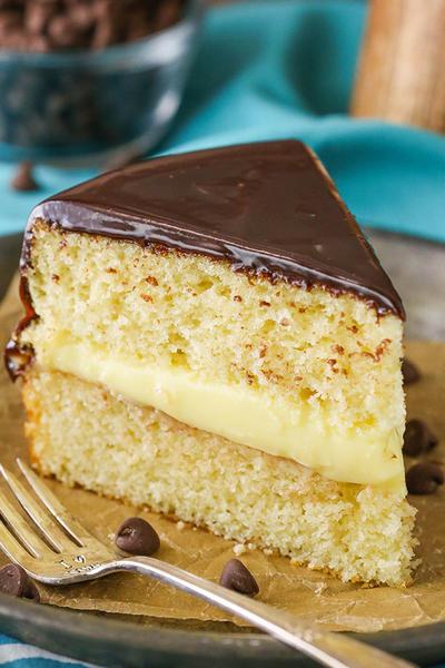 Фото Бостонский пирог с кремом Патисьер