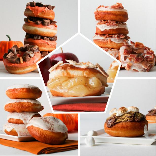 Фото 5 пончиков для осеннего стола