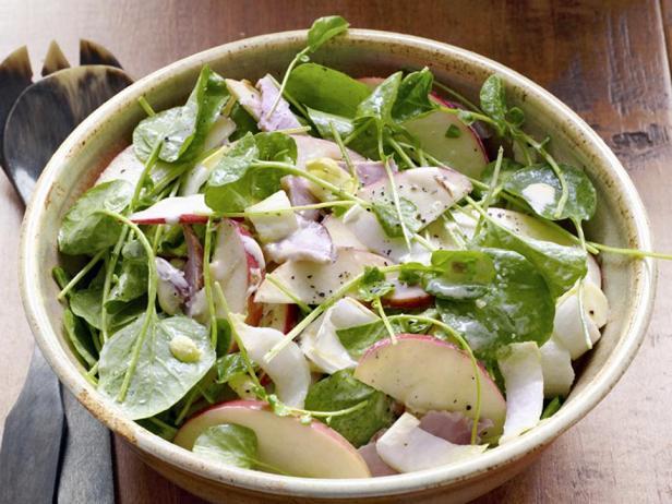 Фотография блюда - Салат с яблоками и ветчиной