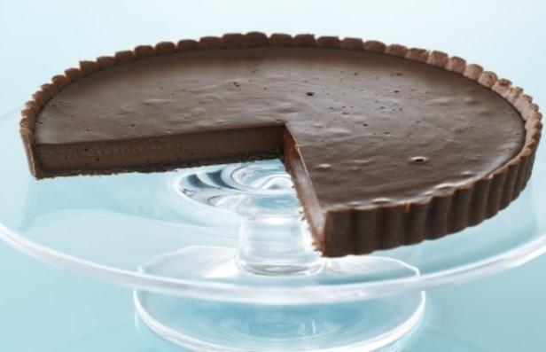 Фото Нежный шоколадный тарт