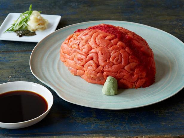 Фотография блюда - «Мозги» - суши на Хэллоуин