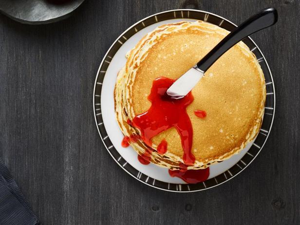 Фотография блюда - Кровавые панкейки