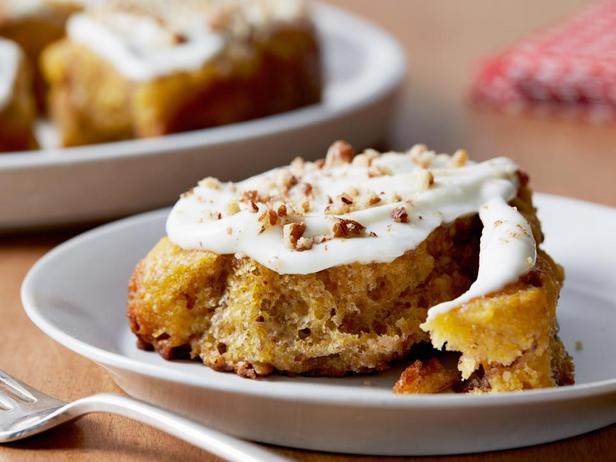 Фотография блюда - Тыквенные булочки с корицей