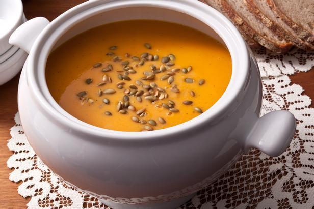 Фото блюда - Тыквенный суп-пюре с приправой карри