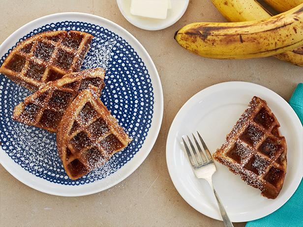 Фото Банановый хлеб в вафельнице