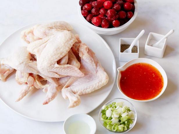Ингредиенты к рецепту - Запечённые куриные крылышки в клюквенной глазури
