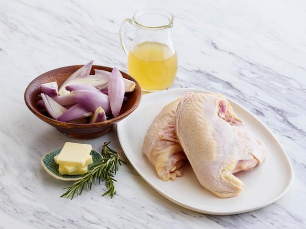 Ингредиенты к рецепту - Курица с луком-шалот, запечённая в духовке и соус из розмарина