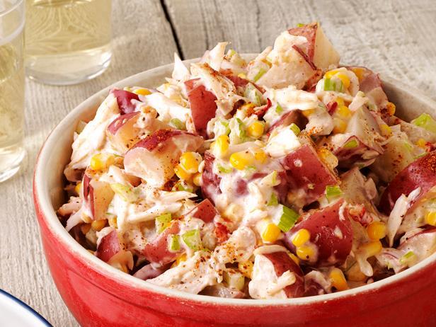 6. Картофельный салат с крабом