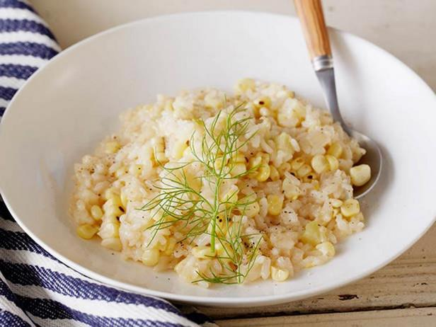 Фотография блюда - Ризотто с кукурузой-гриль