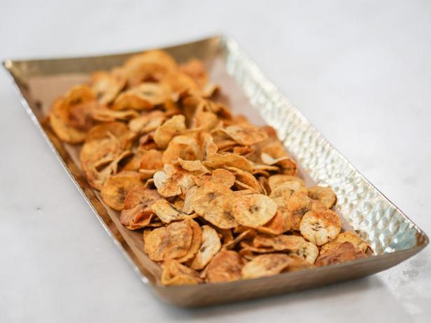 Фотография блюда - Банановые чипсы Джерк в духовке