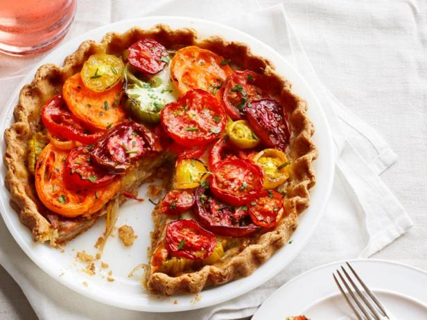 Фотография блюда - Пирог с помидорами