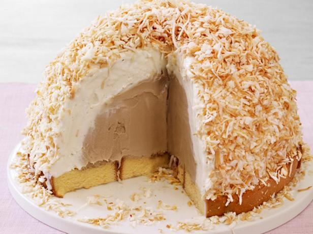 Фотография блюда - Торт-мороженое «Кокосовая бомба»