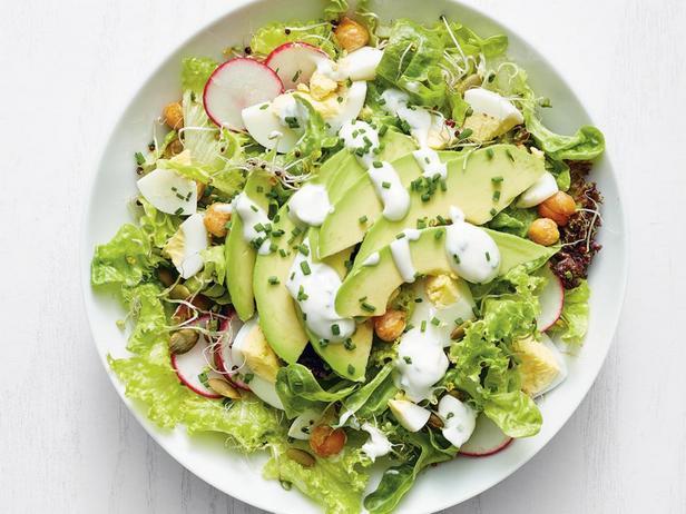 Фотография блюда - Калифорнийский салат с яйцами