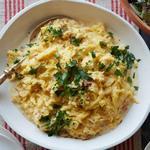 Паста карбонара из тыквы-спагетти