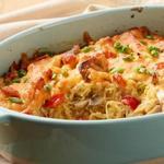 Запеченные тыквенные спагетти с курицей