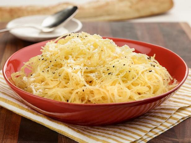 Фотография блюда - Запечённая тыква-спагетти