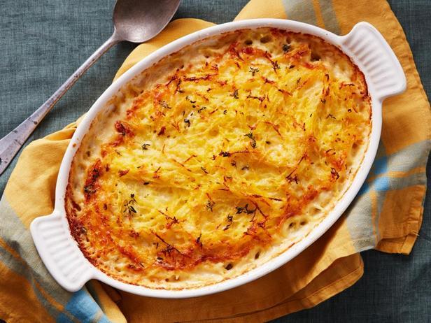 Фотография блюда - Тыквенно-картофельная запеканка