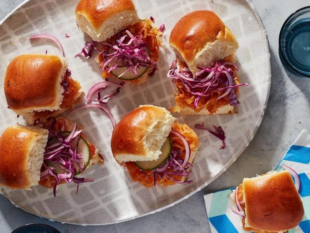 Фотография блюда - Мини-бургеры с тыквой барбекю