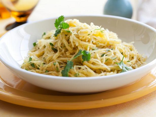 Фотография блюда - Пряная тыква-спагетти в микроволновой печи