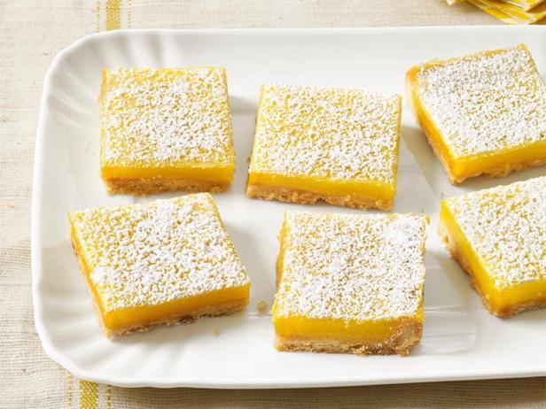 Фотография блюда - Пирожные «Лимонная плитка»