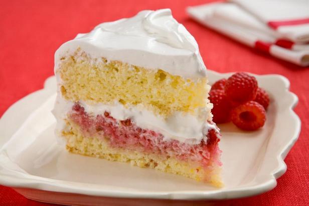 Фотография блюда - Лимонно-малиновый кекс с цитрусовой глазурью