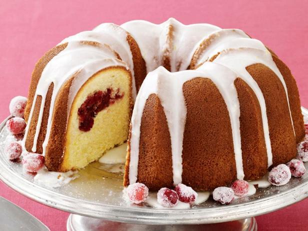 Фотография блюда - Лимонный Бундт кекс с клюквой
