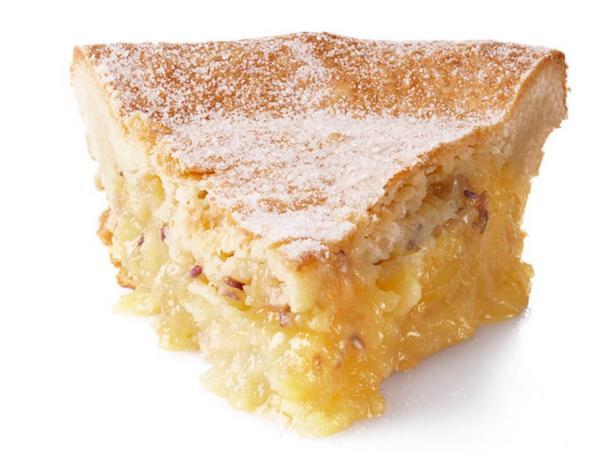 Фотография блюда - Песочный лимонный пирог с лавандой