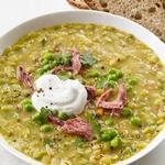 Суп из колотого гороха, медленного приготовления в мультиварке