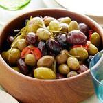 Печёные острые оливки