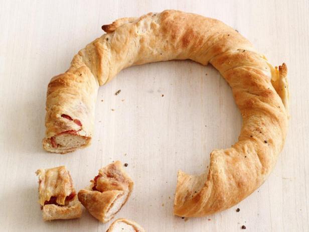 Фотография блюда - Хлеб с ветчиной