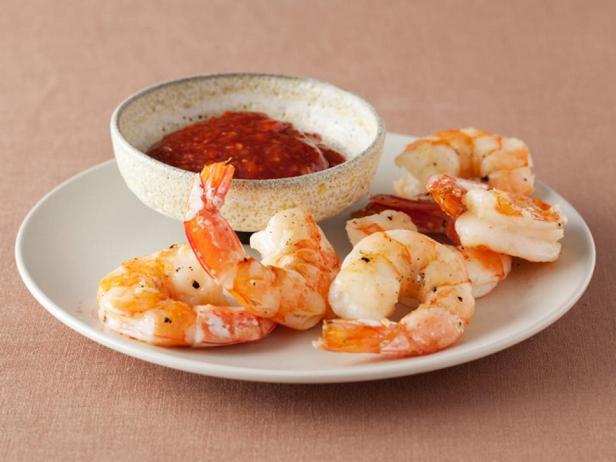 Фотография блюда - Запеченные креветки с соусом