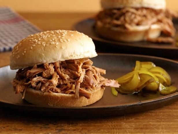 Фотография блюда - Сэндвичи с рваной индейкой