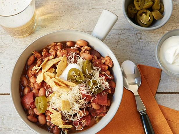 Фотография блюда - Чили с индейкой в медленноварке
