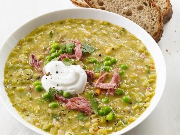 Фотография блюда - Суп из колотого гороха, медленного приготовления в мультиварке