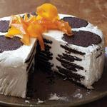 Торт-айсбокс с апельсиново-карамельными взбитыми сливками