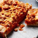 Пицца с коркой, начинённой моцареллой