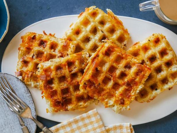 Фото Картофельные оладьи Хашбраун в вафельнице