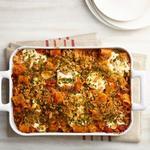 Паста «Четыре сыра» с вялеными помидорами в духовке
