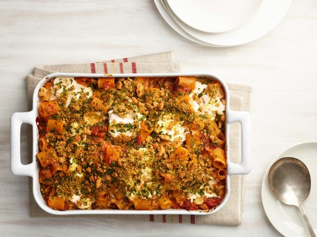 Фото Паста «Четыре сыра» с вялеными помидорами в духовке