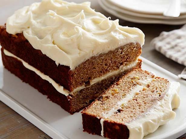 Фото Пряный яблочный кекс с кремом из сливочного сыра