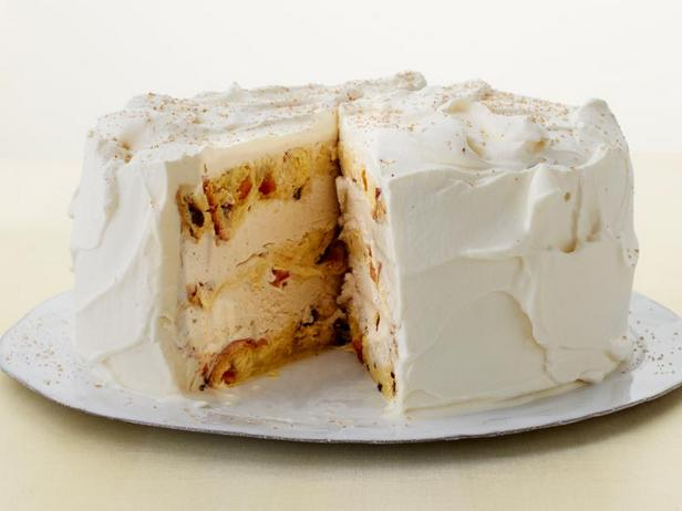 Фото Торт-мороженое с панеттоне и со вкусом эгг-ног