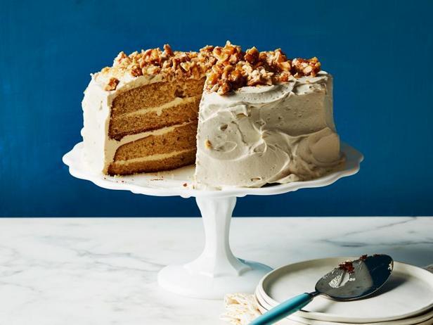 Фото Арахисовый торт с кремом из арахисовой пасты