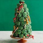 Рождественская ёлка из капкейков