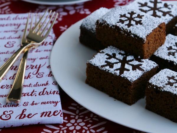 Фото Новогодний имбирный пирог