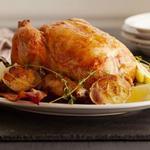 Курица, запеченная с лимоном и чесноком