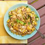 Летний салат с кукурузой гриль