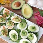 Дьявольские яйца с авокадо