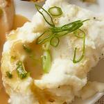 Картофельное пюре с хреном и зелёным луком