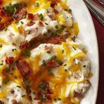 Толчёный картофель с сыром и беконом